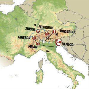 Recorremos Norte de Italia Tirol y Suiza