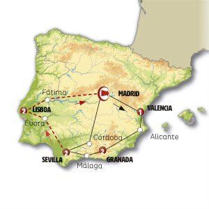 Costa de Levante, Andalucía y Portugal