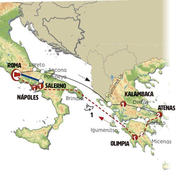 Grecia y Sur de Italia