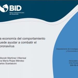 La economía del comportamiento puede ayudar a combatir el Coronavirus