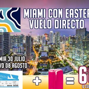 Miami vuelo directo con EASTERN USD 603