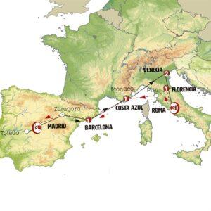 España, Italia, Costa Azul