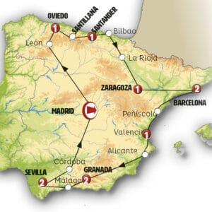 España de norte a sur